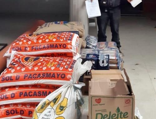 SINERSA delivers groceries to the San Juan de Viscas and Ravira communities