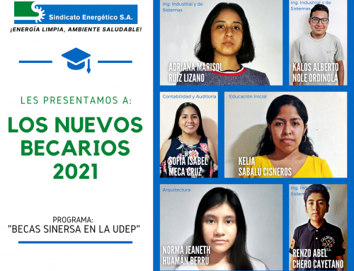 "SINERSA SCHOLARSHIPS: Six young people access the ""Sinersa Scholarships at UDEP – 2021"""