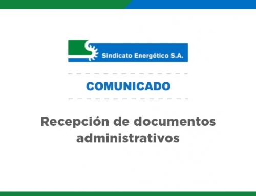 Recepción de documentos administrativos